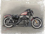 Harley-Davidson Custombike Sportster Forty-Eight Umbau Cherry Bomb Custombike