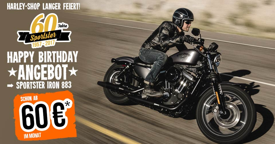 Happy Birthday Angebot Iron 883