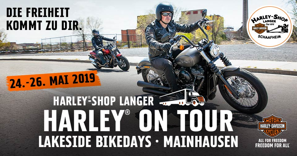 Harley-Shop Langer Probefahrtaktion Harley on Tour bei den Lakeside Bikedays