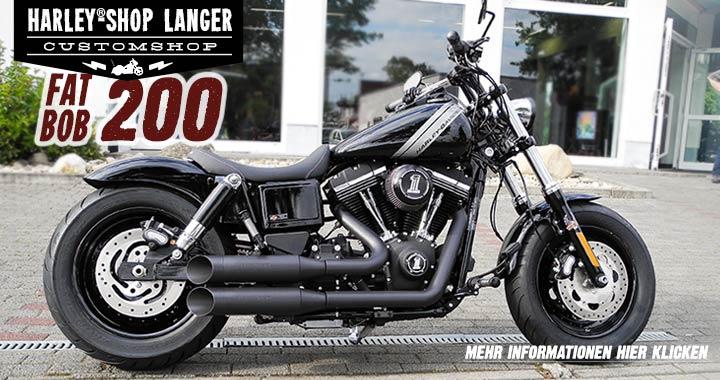 fat bob umbau 200 custombike harley shop langer. Black Bedroom Furniture Sets. Home Design Ideas