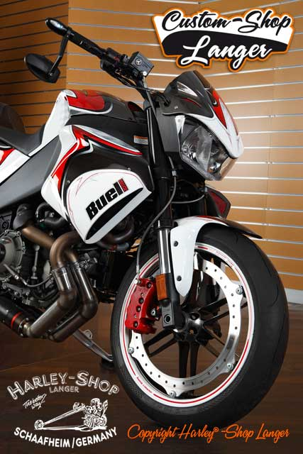 Buell 1125CR Umbau Final Attack 240 Custombike