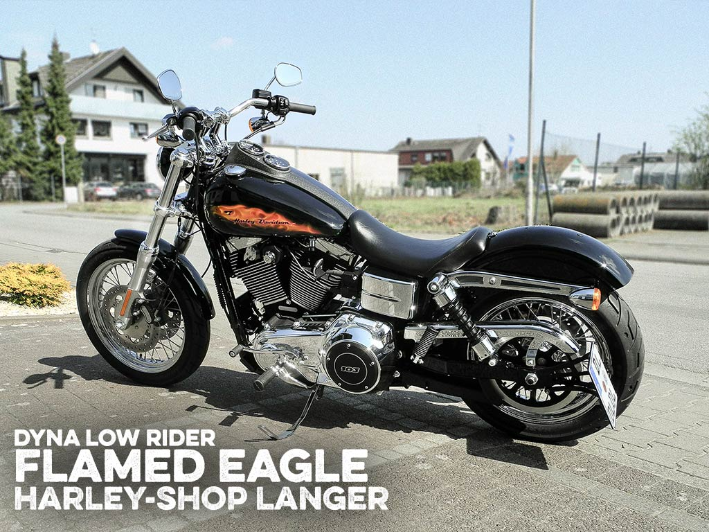 Dyna Lowrider Umbau Flamed Eagle Custombike