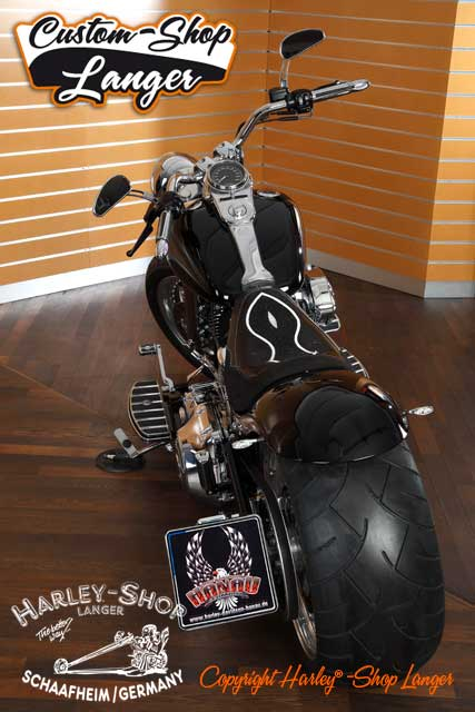 Softail Umbau Black Venom 280 Custombike