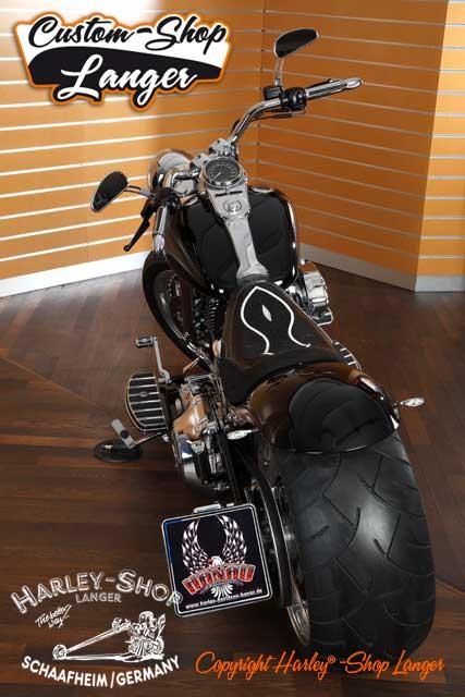 Softail Umbau Black Venom 280 Custombike