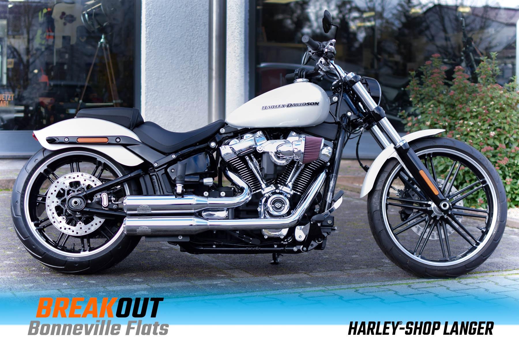 Harley-Shop Langer Breakout Umbau Bonneville Flats Custombike