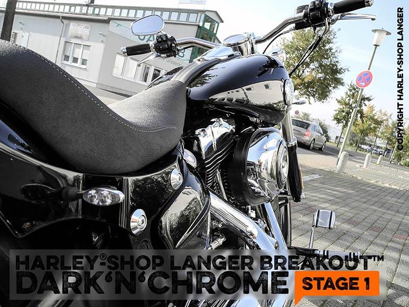Softail Breakout Dark 'n' Chrome Stage-1 Custombike