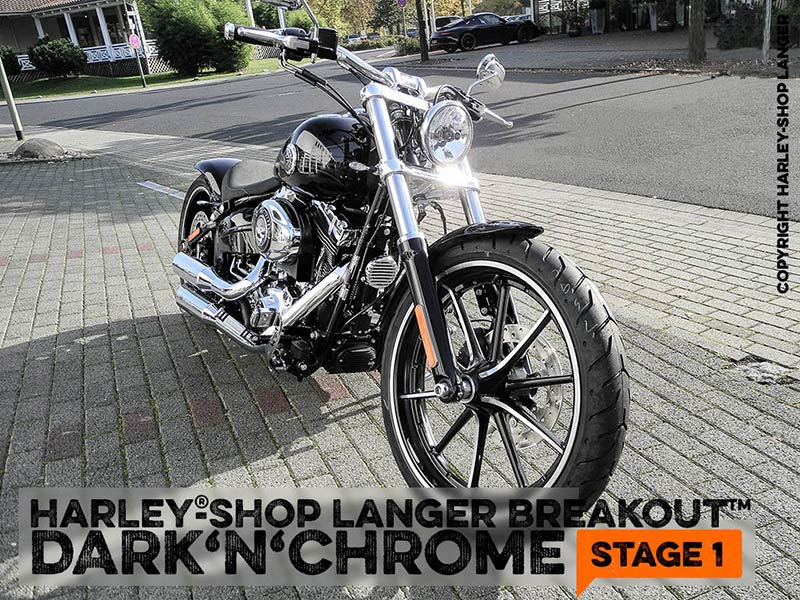 Softail Breakout Dark 'n' Chrome Stage-1 Custombike