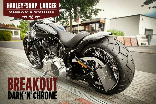 Softail Breakout Umbau Dark 'n' Chrome Custombike