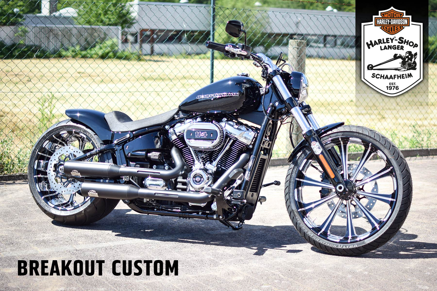 Harley-Shop Langer Umbau Breakout Custom Bike