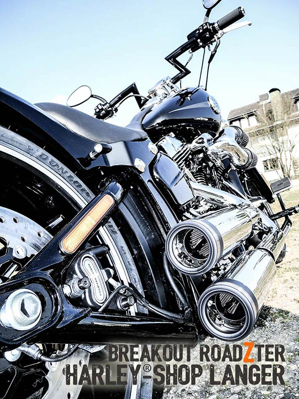 Harley-Shop Langer Breakout Umbau Roadzter Custombike