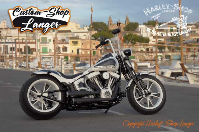 Softail Cross Bones Umbau Kontrast Custombike