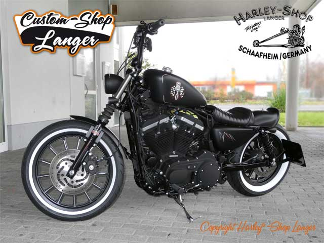 Sportster Iron 883 Umbau Angry Piston Custombike