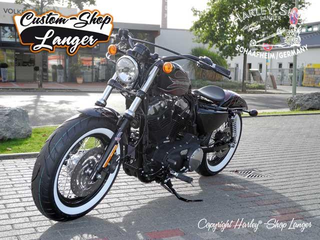 forty eight umbau cherry bomb custombike custom shop von. Black Bedroom Furniture Sets. Home Design Ideas