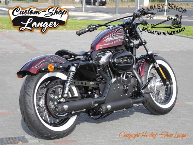 Sportster Forty-Eight Umbau Cherry Bomb Custombike