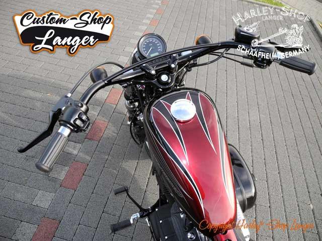 Sportster Forty-Eight Umbau Cherry Bomb Custombike