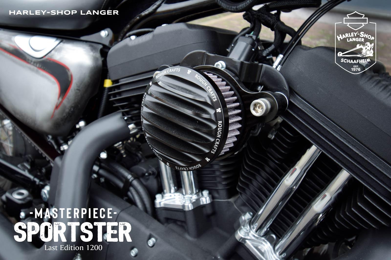 Harley-Shop Langer Sportster Umbau Masterpiece Custombike