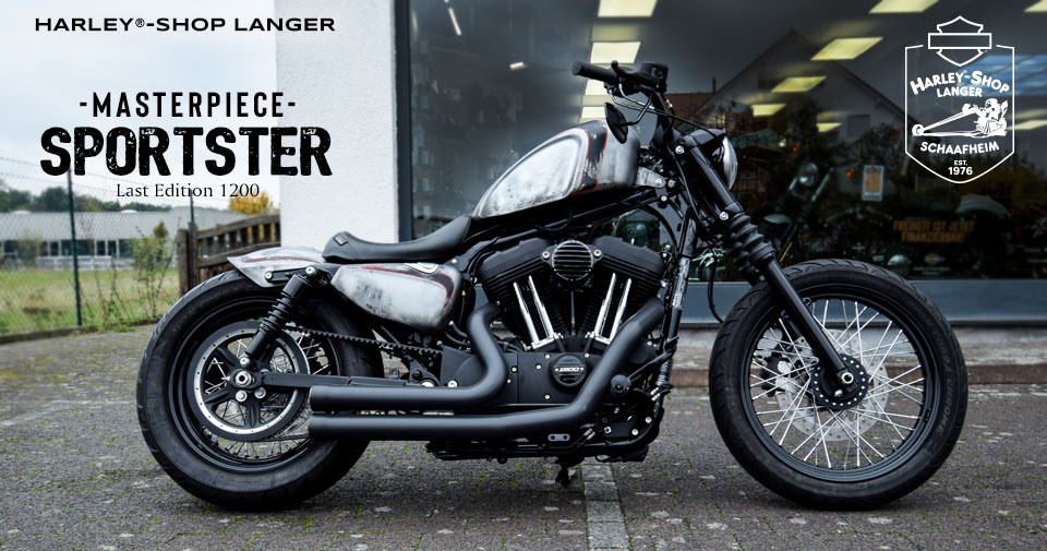 Harley-Shop Langer Custombike Sportster Masterpiece