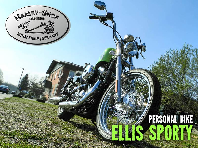 Harley-Shop Langer Sportster Seventy-Two Umbau Ellis Sporty Custombike