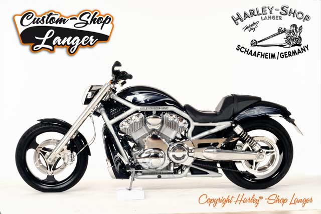 v rod umbau skull custombike custom shop von harley shop. Black Bedroom Furniture Sets. Home Design Ideas