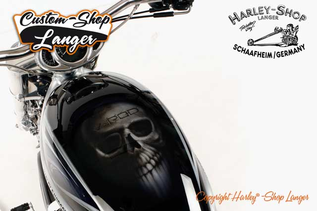 V-Rod Umbau Skull Custombike