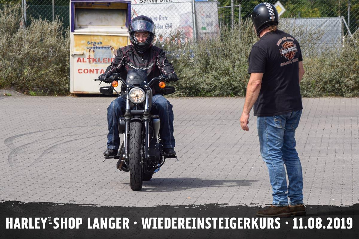 Harley-Shop Langer Wiedereinsteigerkurs 11. August 2019