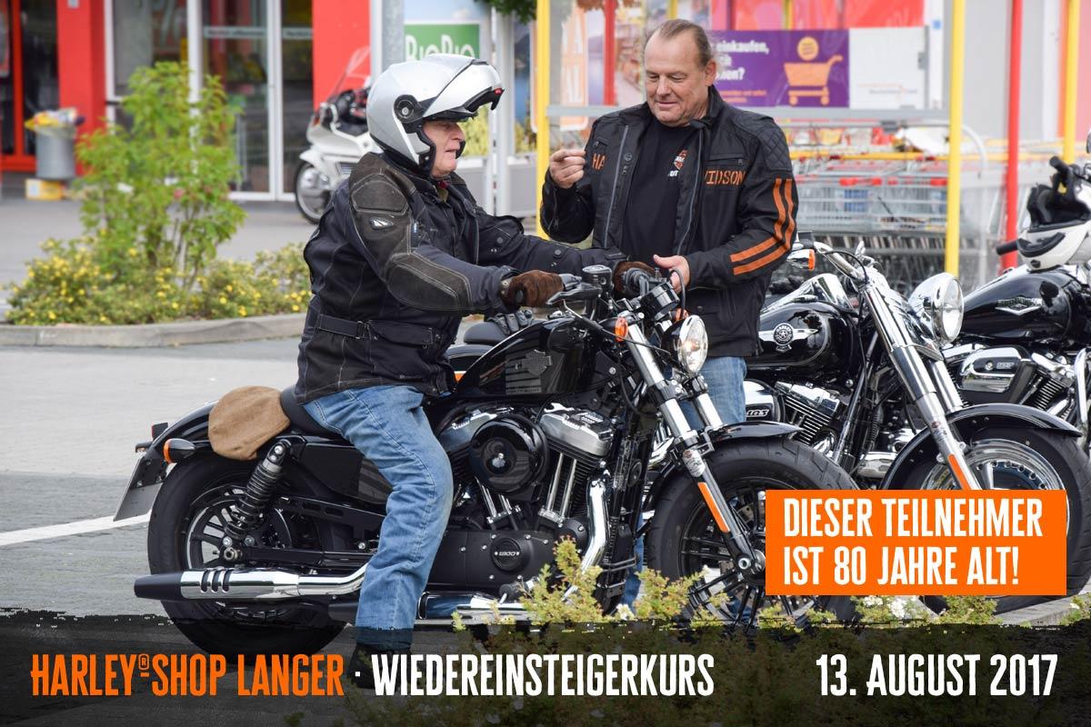 Harley-Shop Langer Wiedereinsteigerkurs 13. August 2017